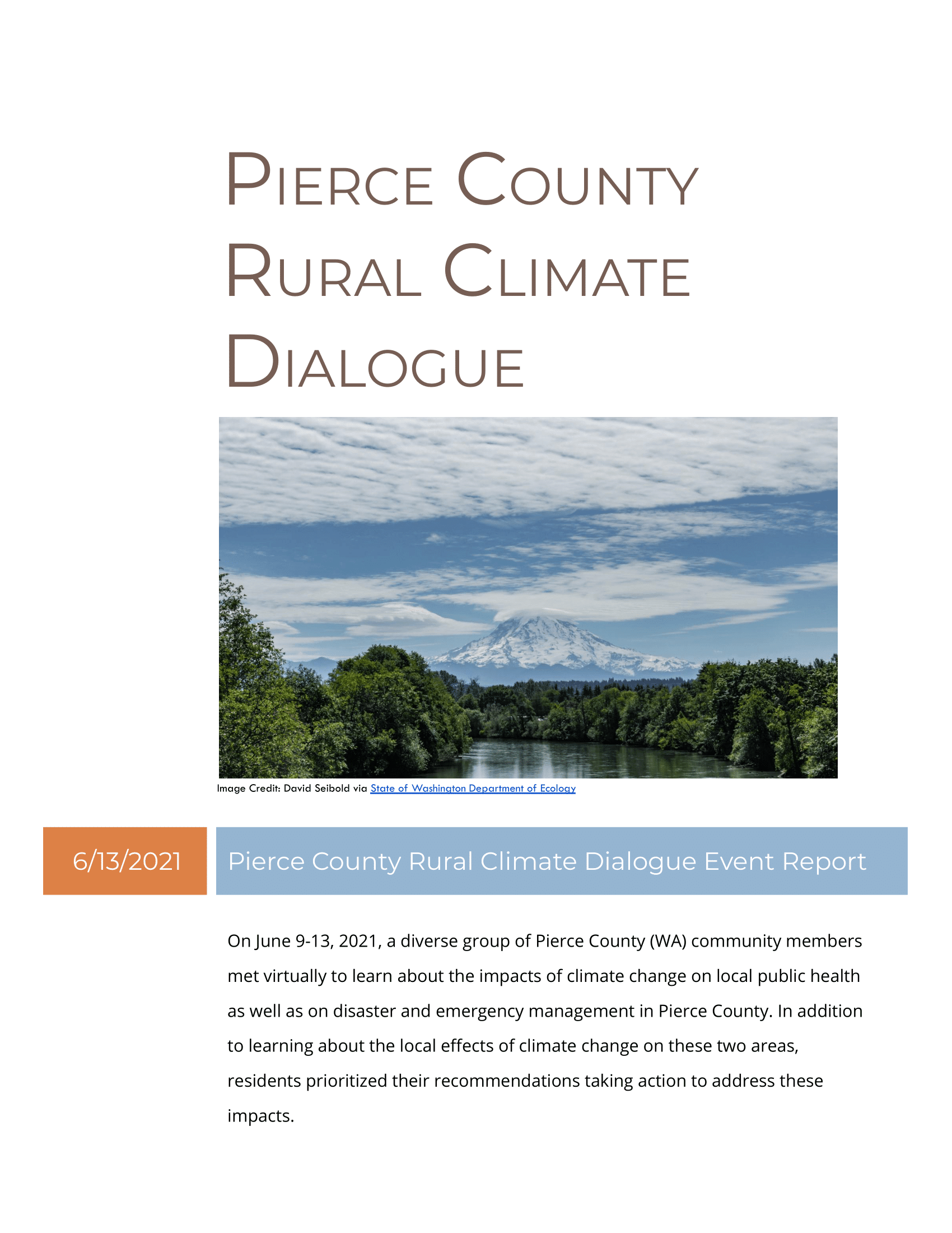 Pierce County Rural Climate Dialogue Event Report (Final)-01 Opens in new window