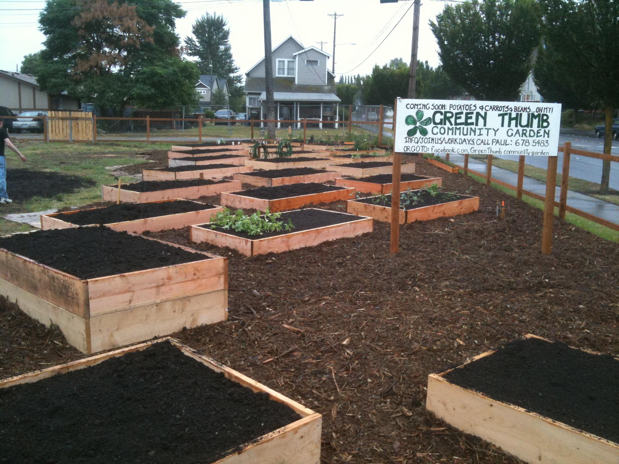 green thumb ready for planting - How To Start A Community Garden
